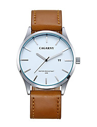cagarny montres hommes / montre de mode / grand cadran montre / calendrier quartz japon / froid / watch casual / business