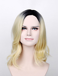 Fashion Wig President of the Daughter Wig Light Gold Wavy Synthetic Wig with Heat Resisitant Hair