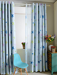 One Panel Curtain Modern , Animal Kids Room Poly / Cotton Blend Material Blackout Curtains Drapes Home Decoration For Window