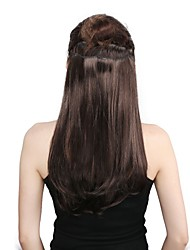 Neitsi 14'' 3 Pcs/set Straight Clip in/on Hair Weft Synthetic Hair Extensions 1000C#