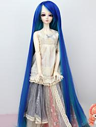 1/3 bjd sd poupée perruque fibre haute température extra long bleu perruque tresse pas pour adulte humain