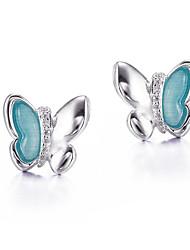 Boucle Zircon cubique / Imitation Opal Boucles d'oreille goujon Bijoux FemmeHalloween / Mariage / Soirée / Quotidien / Décontracté /