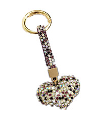 LED Lighting Leisure Hobby Key Chain / Diamond / Gleam Heart-Shaped Metal Purple For Boys / For Girls