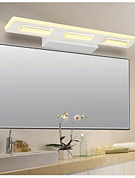 Modern Simple LED Bathroom Makeup Lamp / Acrylic Mirror Headlights