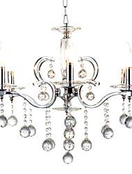 MAX:60W Pendant Light ,  Retro Chrome Feature for Designers Metal Bedroom / Dining Room / Hallway
