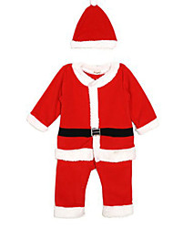 Cosplay Costumes Santa Suits Movie Cosplay Red Solid Top / Pants / Hats Christmas / Children's Day Kid Polyester