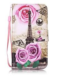 Pour Porte Carte / Portefeuille / Avec Support / Clapet / Motif Coque Coque Intégrale Coque Tour Eiffel Dur Cuir PU pour HTCHTC Desire