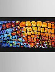 Ручная роспись Абстракция / фантазия Картины маслом,Modern / Классика 1 панель Холст Hang-роспись маслом For Украшение дома