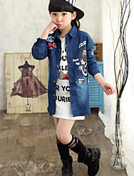 Girl Casual/Daily / Sports Solid Jacket & Coat,Cotton Long Sleeve