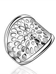 Jewelry Women Sterling Silver Silver Hollow Ring Statement Rings