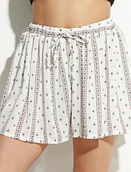 Pantalon Aux femmes Short simple Spandex Micro-élastique