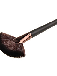1 Fan Brush Synthetic Hair Wood Face Others