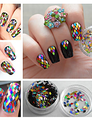1 Box 2mm Rhombus Sheet Sparkling Nail Art Sequins Decoration Manicure Glitter   Nail Art Decors