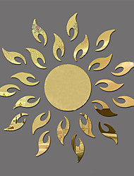 Mirror Wall Stickers Sunflower Mirror