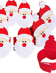 4Pcs Non-woven Napkin Set Of Santa Claus Napkin Ring