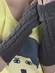 Mulheres Poliéster metade do comprimento do dedo do cotovelo, inverno ocasional jacquard
