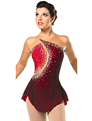 Ice Skating Dress Women's Sleeveless Skating Dresses High Elasticity Figure Skating Dress Breathable / Comfortable Lace ElastaneRed /