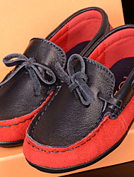 Boy's Loafers & Slip-Ons Spring / Summer / Fall Others / Comfort Leather Casual Slip-on Red / White