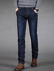 Women's Solid Blue / Black Jeans Pants,Simple Fall / Winter