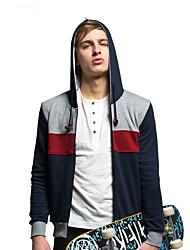 Trenduality® Herren Rundhalsausschnitt Lange Ärmel Kapuzenpullover & Sweatshirts Dunkelblau - 31508