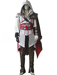 Inspirado por Assassino Fantasias Vídeo Jogo Fantasias de Cosplay Ternos de Cosplay Cor Única Branco / Preto / Vermelho Manga Comprida