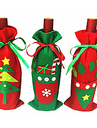 Christmas Tree Section-Christmas Gloves-Christmas Triangular Gift Bag Models Champagne Wine Sets Gift Bags Candy Bags