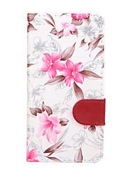 Pour Portefeuille / Porte Carte / Avec Support / Clapet Coque Coque Intégrale Coque Fleur Dur Cuir PU pour SonySony Xperia Z3 Compact /