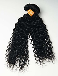 6A 2pcs 50g Black Kinky Curly Wave Human Hair Weaves Indian Texture Human Hair Extensions