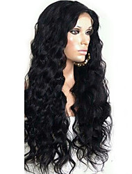 Hotsale новый стиль девственные перуанские человеческие волосы 12-26 дюйма 130% плотность 13 * 6 парик фронта шнурка естественного цвета