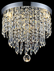 Decor Home Living Rooms Crystal Ceiling Llight in Chrome Color