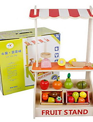 Pretend Play Leisure Hobby Toys Novelty Apple Wood Rainbow For Girls