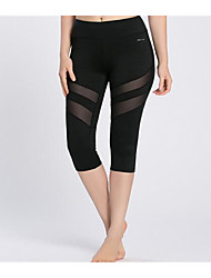 Yoga Pants 3/4 Tights BottomsBreathable  Quick Dry  Anti-skidding Non-Skid Antiskid  Limits Bacteria  Reduces Chafing