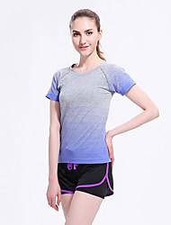 Running Sweatshirt / Tracksuit / Tank Women's Short Sleeve Breathable / Quick Dry / Ultra Light Fabric / Sweat-wicking Tactel Sports