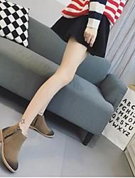 Черный Хаки-Для женщин-Повседневный-ДерматинУдобная обувь-Ботинки