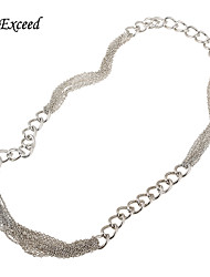 Newest Causal Long Thick Chain Statement Necklace for Women (NL159234)