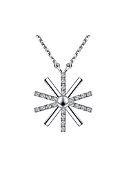 Colliers Tendance Pendentif de collier Bijoux Quotidien / Décontracté Original Argent sterling Femme 1pc Cadeau Argent