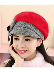 Women Rabbit Fur Bowler/Cloche Hat,Casual Fall / Winter