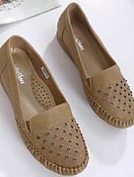 Women's Loafers & Slip-Ons Comfort PU Casual Black Khaki