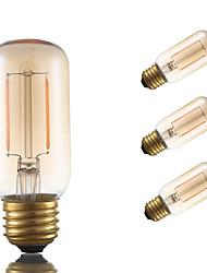 2W E26 LED лампы накаливания T 2 COB 160 lm Янтарный Регулируемая / Декоративная AC 110-130 V 4 шт.