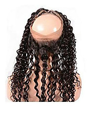 360 Frontal Kinky Curl Full Lace Hair Closure