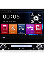 7 Inch Detachable 1 Din Car DVD Player Multimedia System Anti-theft GPS Sat Navi Bluetooth EX-TV Mirror-Link 7 Colors Button Light Universal DK7088LT