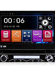 7 pulgadas extraíble del sistema multimedia de coches reproductor de DVD 1 DIN GPS antirrobo sentaron navi dk7088lt Bluetooth universal