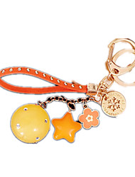Key Chain Leisure Hobby Key Chain Circular / Square Metal Orange