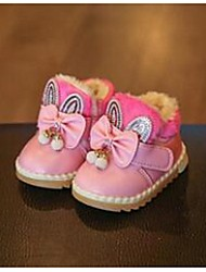 Girl's Baby Boots Comfort Synthetic Casual Pink Red