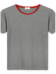 Trenduality® Hombre Escote Redondo Manga Corta Camiseta Rojo / Verde / Borgoña-ZZ017