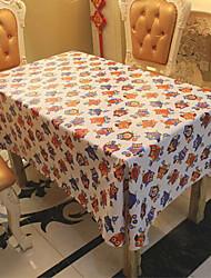 Christmas Halloween Skull With A Cloth Tablecloth Cotton 148*100CM