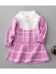 Girl's Going out / Casual/Daily Plaid Dress,Polyester Winter / Fall