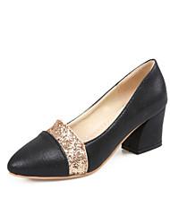 Women's Heels Spring Summer Fall Winter Others Glitter Customized Materials Office & Career Dress Casual Chunky HeelSparkling Glitter