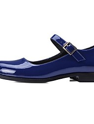 Women's Flats Comfort Leather Casual Black Burgundy Royal Blue