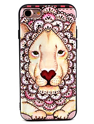 Pour Motif Coque Coque Arrière Coque Animal Flexible TPU pour Apple iPhone 7 Plus / iPhone 7 / iPhone 6s Plus/6 Plus / iPhone 6s/6